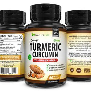 180 EXTRA STRENGTH TURMERIC CAPSULES 95% CURCUMIN TUMERIC BIOPERINE BLACK PEPPER 1