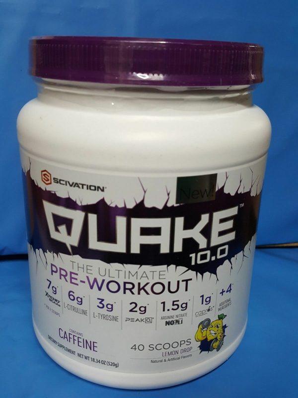 Scivation Quake 10.0 Pre-Workout Supplement Lemon Drop 40 Serv Past Date Deal