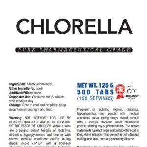 CHLORELLA ORGANIC SUPERFOOD PILLS TABLETS NATURAL DETOX ANTIOXIDANTS VITAMINS 1