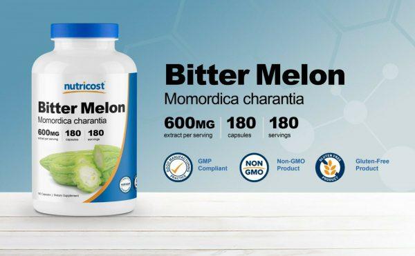 Nutricost Bitter Melon 600mg, 180 Capsules - Gluten Free, Non-GMO 4