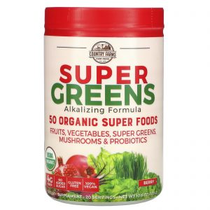 Super Greens, Alkalizing Formula, Berry, 10.6 oz (300 g)