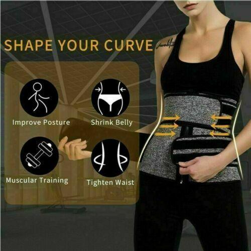 Women Waist Corset Trainer Sauna Sweat Yoga Weight Loss Body Shaper Trimmer Belt 8
