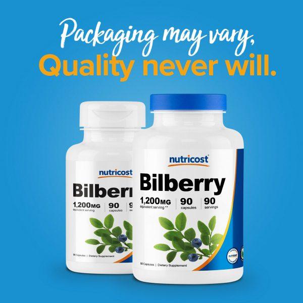 Nutricost Bilberry Capsules 1200mg (90 Vegetarian Capsules) 2