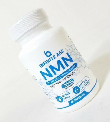 Infinite Age NMN Nicotinamide NAD Precursor - 60 Capsules  EXP:04/21