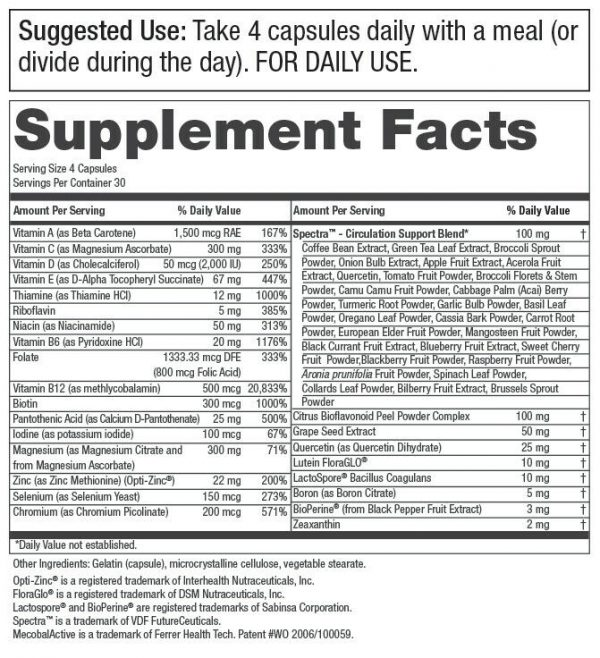 Men's Perfect Multi from Purity Products VitaminsMineralsPhytonutrients 120Cap 1