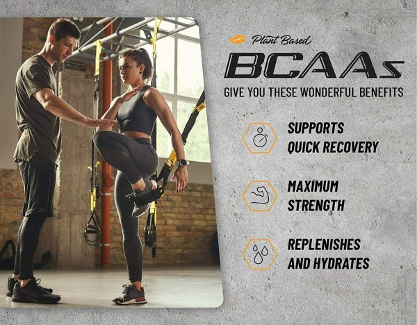 BCAA Powder Peach Mango Nitric Oxide Pre Workout & Muscle Strength - 30 Servings 6