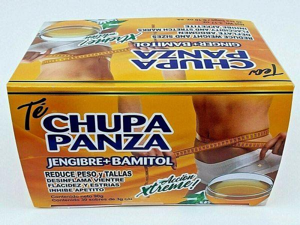 TE DE CHUPA PANZA TEA Jegibre + Bamitol 30 Bags (Accion Xtreme) Free Shipping 2