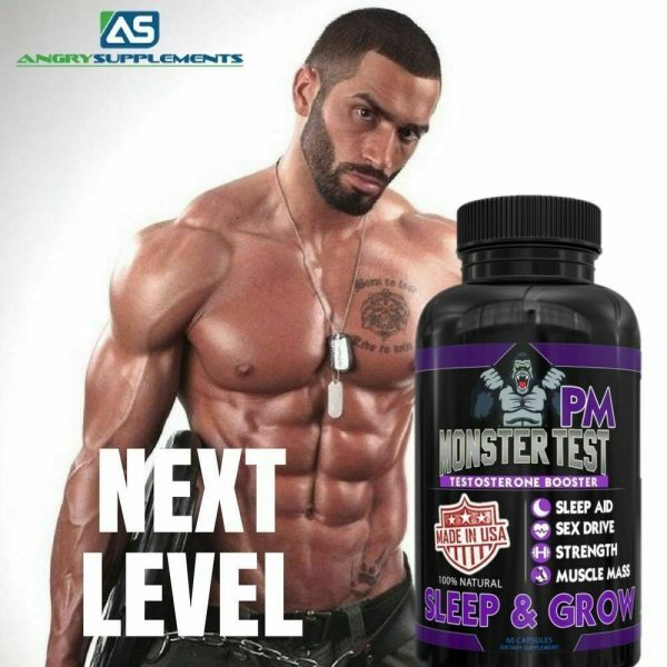 Testosterone Booster Monster Test with Tribulus for Men + Monster Test PM 2 Pack 10