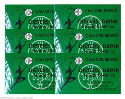 (6boxes) Cali Girl brand Dieters Drink Tea For Men and Women 72 Teabags Total