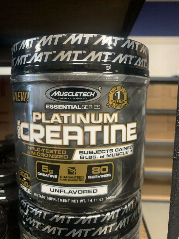 MuscleTech Platinum 100% Creatine Unflavored 400 Grams Fast Free Shipping