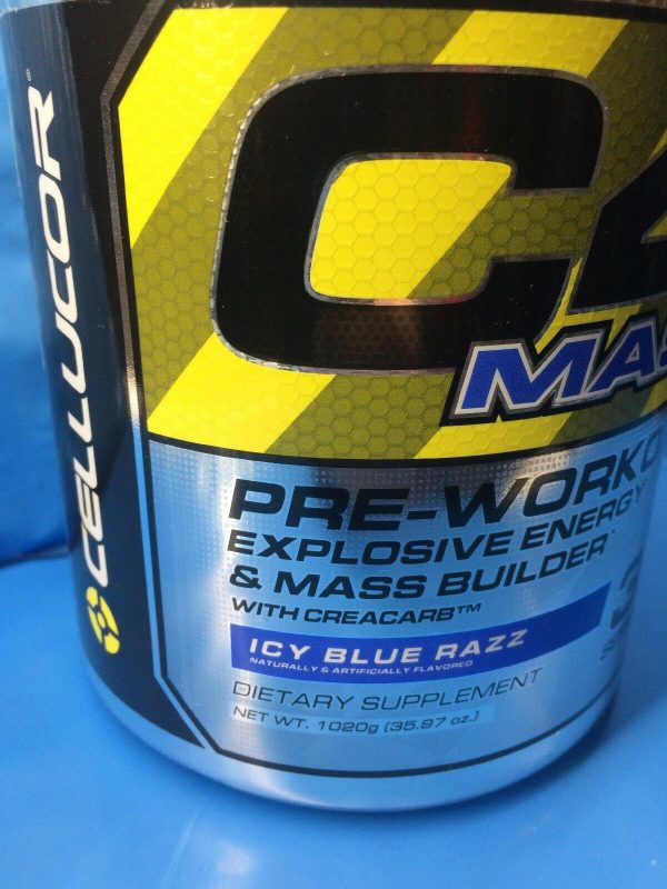 Cellucor C4 Mass Pre-workout Energy Mass 30 serving Icy Blue Razz PAST DATE DEAL 3