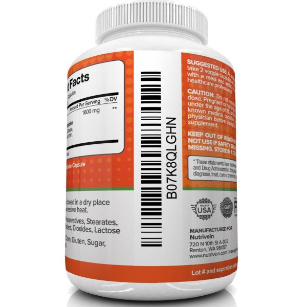 Nutrivein Liposomal Vitamin C 1600mg -180 Capsules - High Absorption Supplements 5