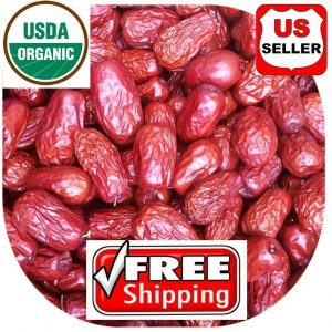 1 LB 100% NATURAL GROWN ORGANIC Dried JUJUBE DATES,CHINESE DATES,US SELLER