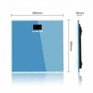 400LB Digital Bathroom Personal Body Glass Weight Heath Fitness LCD Scale Blue