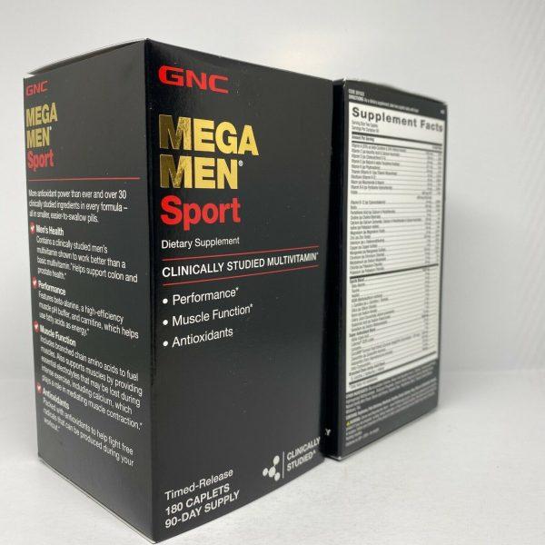 Gnc Mega Men Sports  Multivitamin 180 Caplets Free Shipping  4