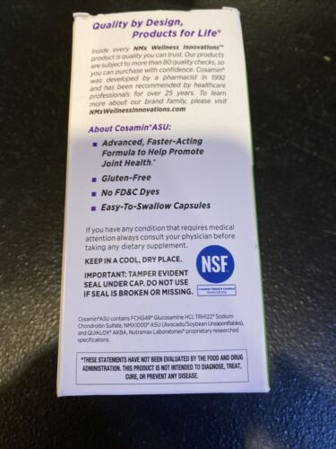 New Cosamin ASU Dietary Supplements 90 Count Exp:02/2022 Or Better! 2