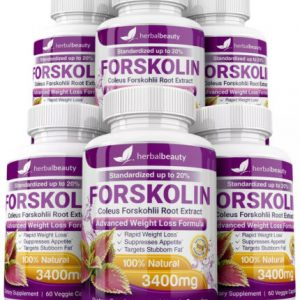 6 x Herbal Beauty FORSKOLIN 3400mg Maximum Strength RAPID RESULTS Pure Extract 1