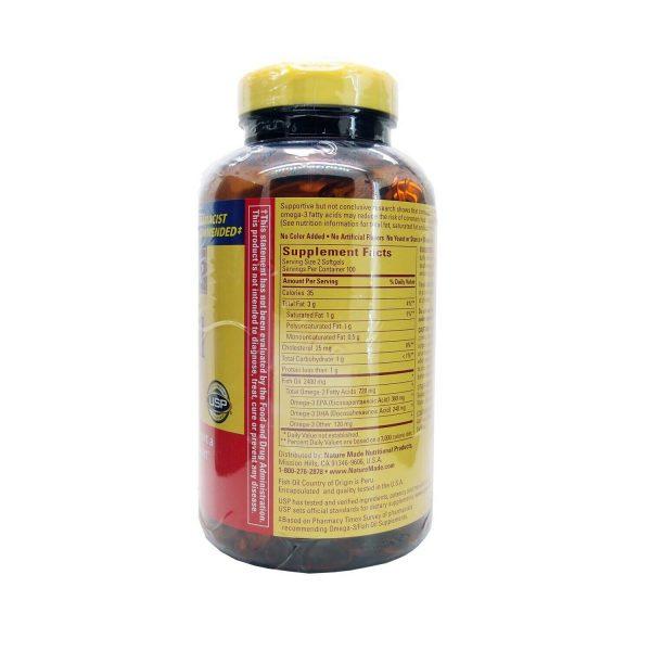 Nature Made Fish Oil 1200 mg OMEGA-3 360mg 200 Softgels 1