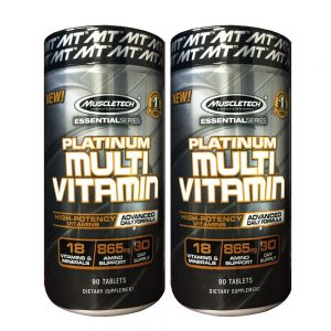 MuscleTech PLATINUM MULTIVITAMIN 90ct  - 2 Pack