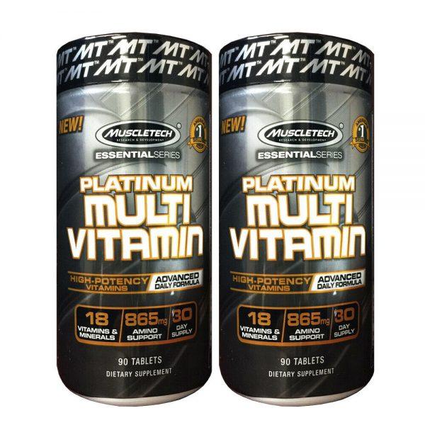 MuscleTech PLATINUM MULTIVITAMIN 90ct  - 2 Pack