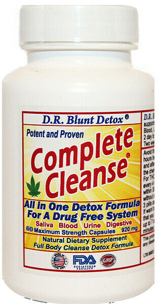 THC Clean System PRO Detox w/Strips 2 Days To Remove Metabolites 60 CAPSULES USA 2