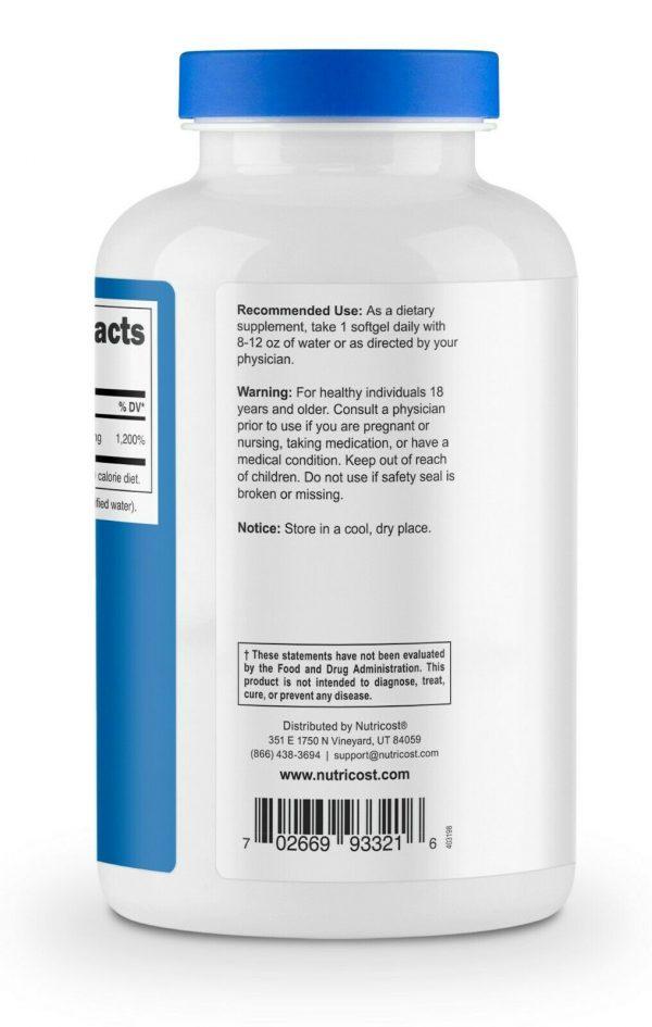 Nutricost Vitamin E 400 IU - 240 Soft Gel Capsules 4