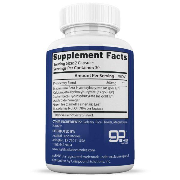 One Shot Pure Keto Pills Weight Loss Diet Pills BHB Ketogenic Supplement 2 Pack 2