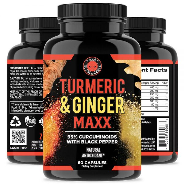 All Natural Turmeric Ginger Maxx, Reduce Anti Inflammation and Joint Pain, 2-PK 1