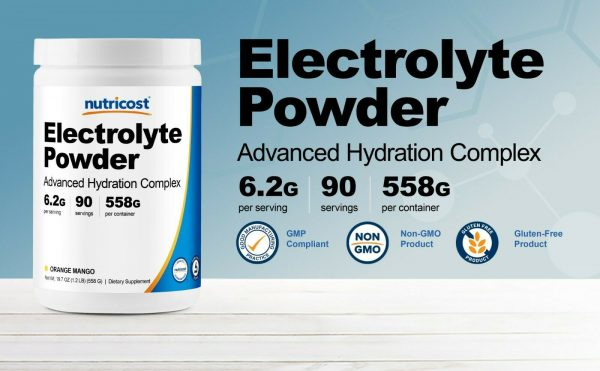 Nutricost Electrolyte Powder, Advanced Hydration Complex, (Orange Mango) 2
