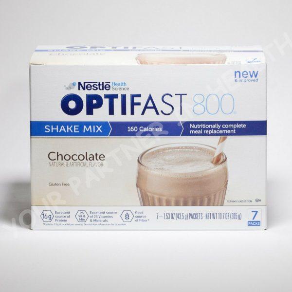 NEW FORMULA OPTIFAST 800 POWDER SHAKE | CHOCOLATE | 1 CASE | 84 SERVINGS  1