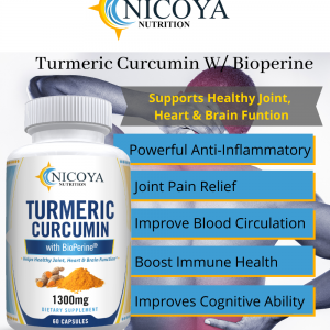 Turmeric Curcumin with Bioperine 1300mg - Anti-inflammatory & Joint Pain Relief 1