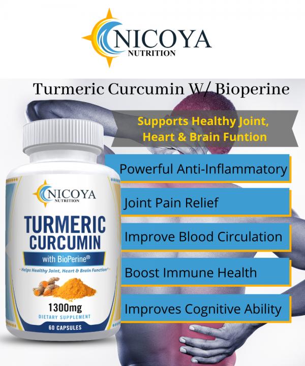 Turmeric Curcumin with Bioperine 1300mg - Anti-inflammatory & Joint Pain Relief 1