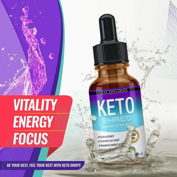 Keto Diet Shred Drops (2 PACK) Ketosis Weight Loss Supplement Fat Burn Carb Bloc 6