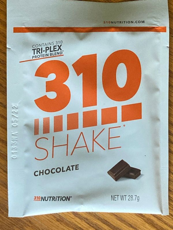 310 NUTRITION shake 4 packets - chocolate and salted caramel - 4 servings 2