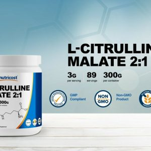 Nutricost L-Citrulline Malate Powder (300G) (Strawberry Kiwi) 1
