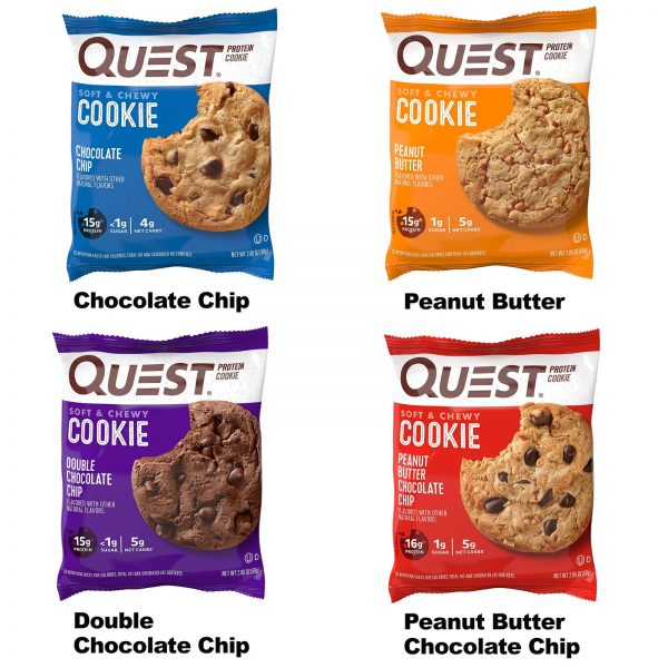 High Protein Cookies Quest 12 Pack 4 Flavors Low Carb Keto Friendly Gluten Free 6