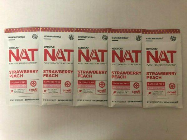 Pruvit Keto OS Nat Strawberry Peach (Charged) 5, 10 & 20 Packs  FREE SHIPPING 3