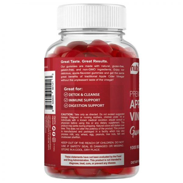 Apple Cider Vinegar Gummies with The Mother - 1000mg, Diet, Keto, Weight Loss 3