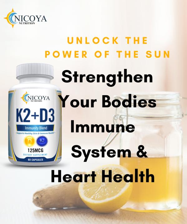 Vitamin K2 D3 Vitamin Supplement with BioPerine, Boost Immunity & Heart Health 5