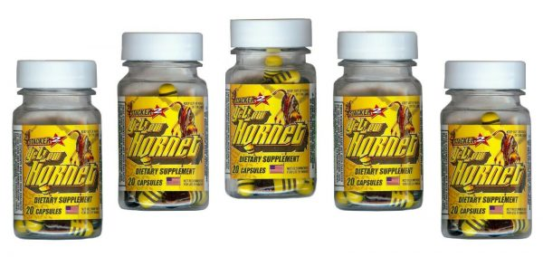 Yellow Hornets Weight loss & Energy Supplement 100ct 5x20ct Bottles Exp.12/2023 2