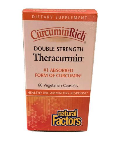Natural Factors CurcuminRich Theracurmin Double Strength Turmeric 60 Capsules