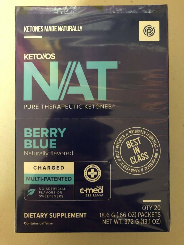 Pruvit Keto OS Nat Berry Blue (Charged) 5, 10 & 20 Packs FREE SHIPPING