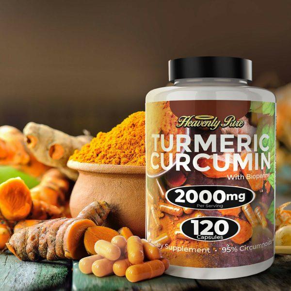 Turmeric Curcumin 2000 mg High Absorption Extra Strength Vegan Capsules 120 Ct 3