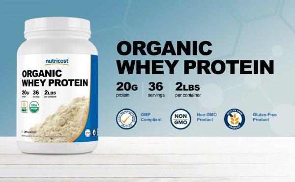 Nutricost Organic Whey Protein Powder (Unflavored) 2 LB - Non-GMO 2