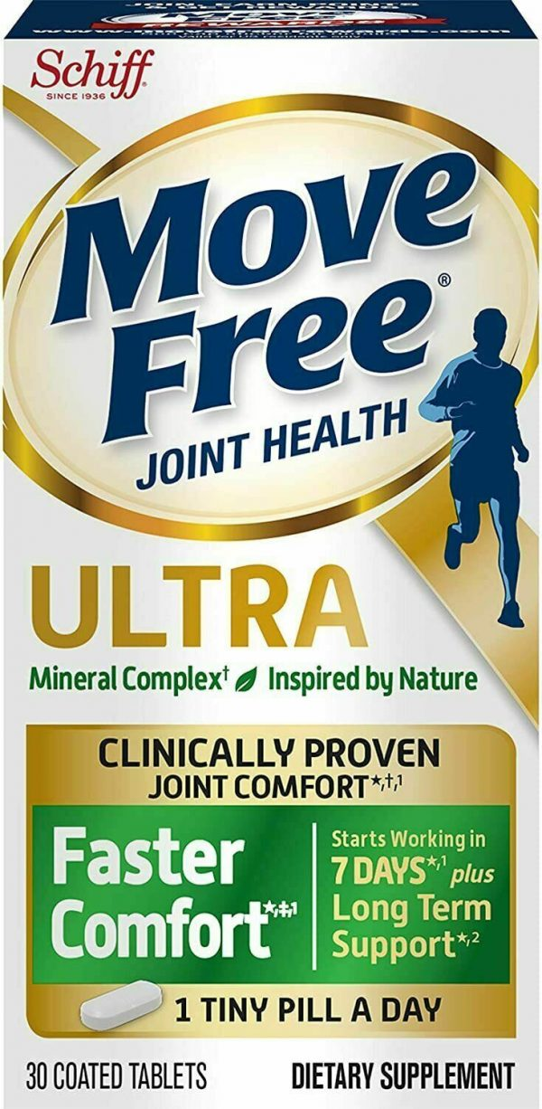 3 Pack Schiff Move Free Joint Ultra Faster Comfort + Long Term Support 30Ct 2/22