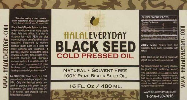 Black Seed Oil - 100% Pure Organic COLD PRESSED Cumin Nigella Sativa Unrefined 5