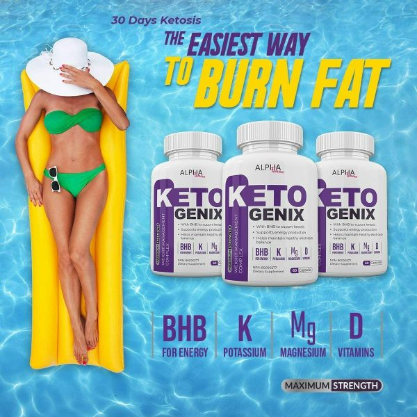 Alpha Femme Keto Genix - with BHB to Support ketosis - 60 Capsules - 800 MG 3