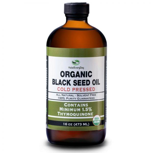 Black Seed Oil - 100% Pure Organic COLD PRESSED Cumin Nigella Sativa Unrefined 9