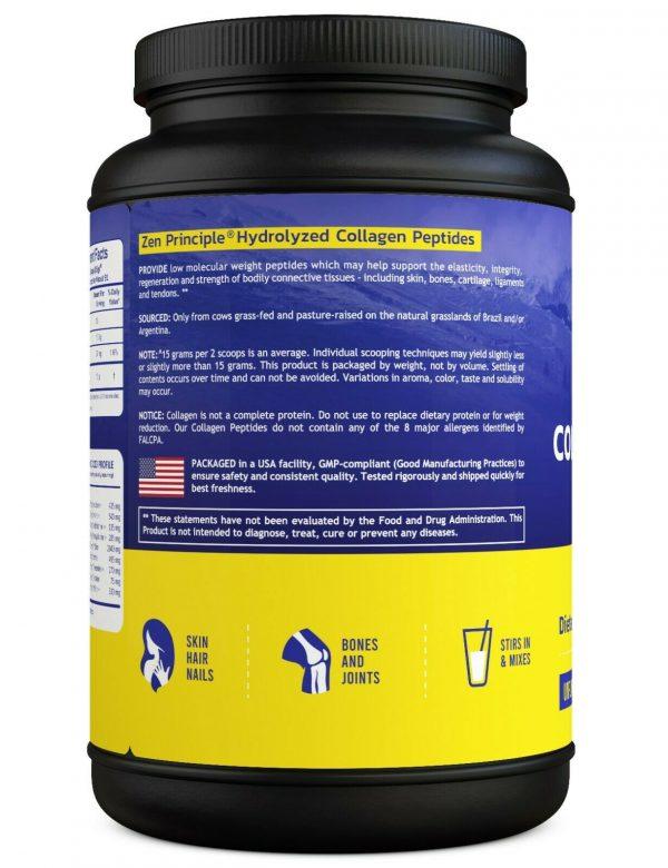 Grass-Fed Collagen Peptides Hydrolyzed 3 lb 2