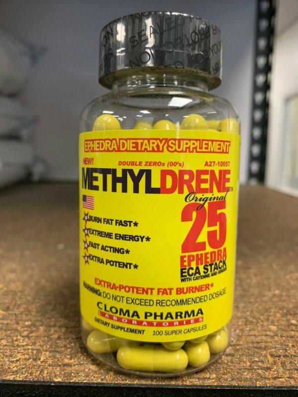 Cloma Pharma Mehtyl-D 25 Fat Burner/Weight Loss 100 Capsules Fast Free Ship